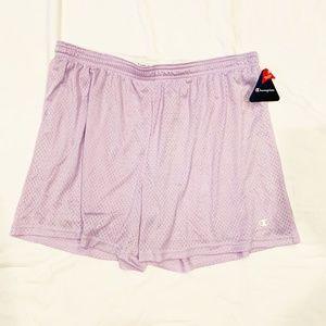 Lavender Champion Fold-Over Waistband Shorts   703